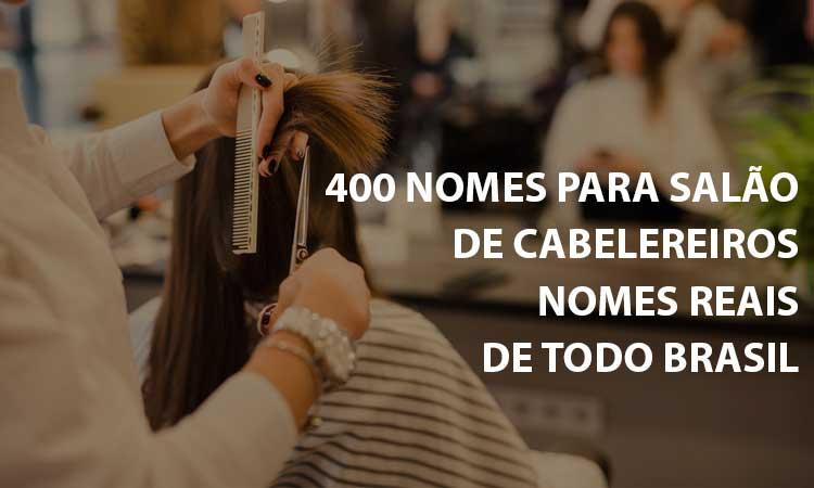 400 nomes para salão de cabelereiros: uma inspiração para a sua criatividade